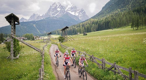 Mountain biking in Sesto