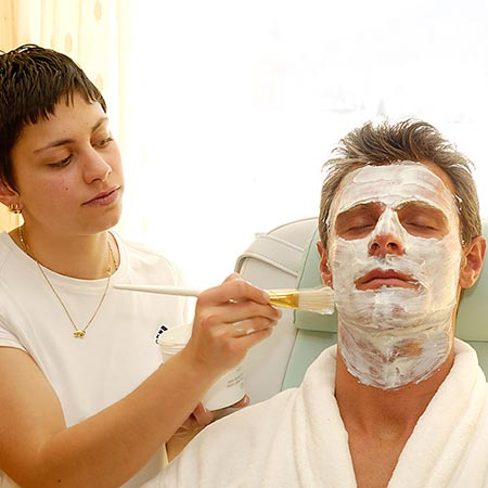 Facial treatment at the Family Resort Rainer