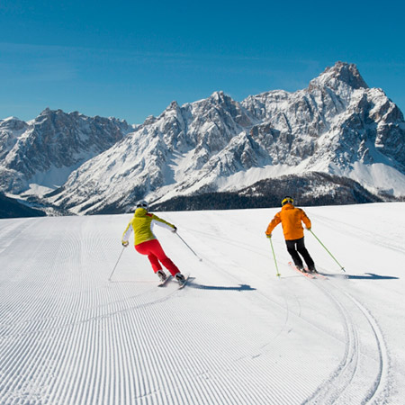 Skiing in Sesto