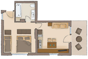 Map of the apartment 4