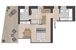 Appartement Fiscalina 2