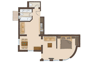 Map of the apartment 1