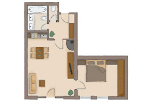 Map of the apartment 2