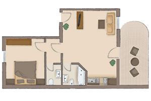 Map of the apartment 3