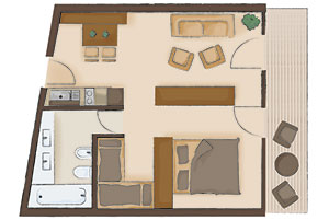 Map of the apartment Gilte