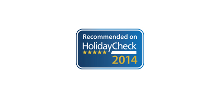 Recommended on HolidayCheck 2014